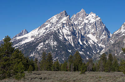 Photograph - The Tetons Cathedral Group by Aaron Spong