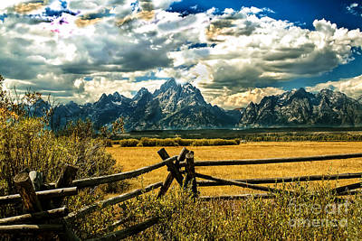 Photograph - The Tetons by Robert Bales