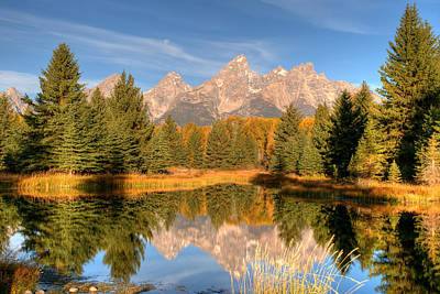 Photograph - The Tetons by Steve Stuller