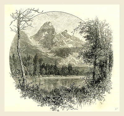 Teton Drawing - The Tetons, Usa, 1891 by Liszt collection