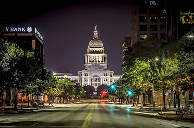 Photograph - The Texas Capitol Building by David Morefield