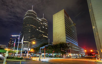 The Texas Medical Center At Night Art Print