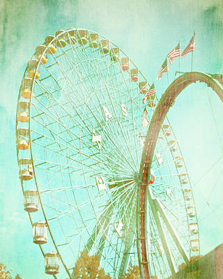 Photograph - The Texas Star Ferris Wheel by David and Carol Kelly