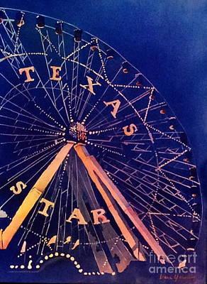 Painting - The Texas Star by Liana Yarckin