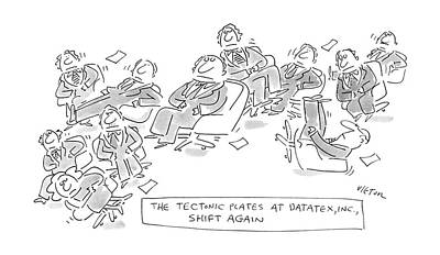 Chair Drawing - The Textonic Plates At Datatex by Dean Vietor