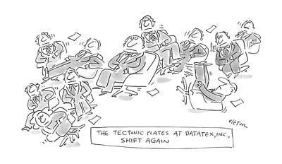 The Textonic Plates At Datatex Art Print