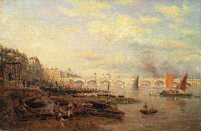 The Thames And Waterloo Bridge From Somerset House Art Print by Litz Collection