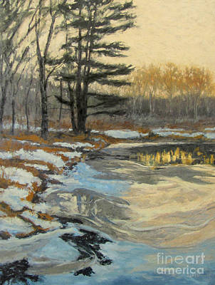 Introspective Painting - The Thawing Pond - Hudson Valley by Gregory Arnett