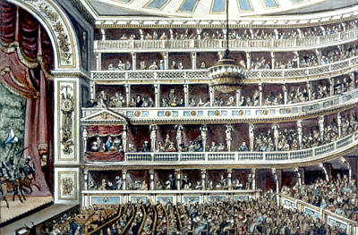 Viennese Painting - The Theater An Der Wien, Vienna by Granger