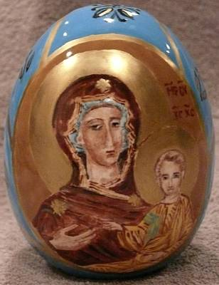 Ceramic Art - The Theotokos by Svetlana  Jenkins
