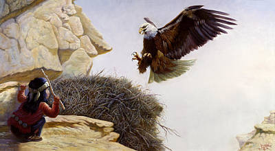 Apache Painting - The Thief by Gregory Perillo