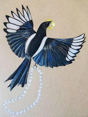 Magpies Mixed Media - The Thief by Nina Shilling