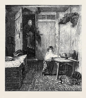 Hardy Drawing - The Thieves Detected by Hardy, Frederick Daniel (1826-1911), English