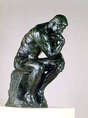 Head In Hands Painting - The Thinker, 1880-81 by Auguste Rodin