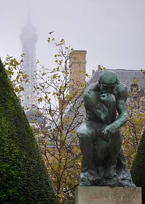 Photograph - The Thinker And The Tower by Matt MacMillan