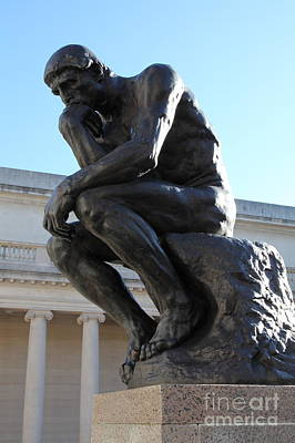 The Thinker At San Francisco Palace Of The Legion Of Honor - 5d20964 Art Print