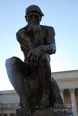 The Thinker At San Francisco Palace Of The Legion Of Honor - 5d20966 Art Print