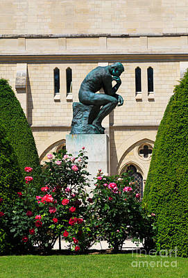 The Thinker By Auguste Rodin Art Print by Louise Heusinkveld