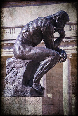 Auguste Photograph - The Thinker by Garry Gay