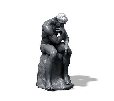 Contemplative Photograph - The Thinker by Juan Gaertner