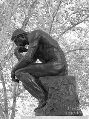 The Thinker - Philadelphia Bw Art Print