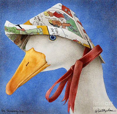 Ducks Painting - The Thinking Cap... by Will Bullas