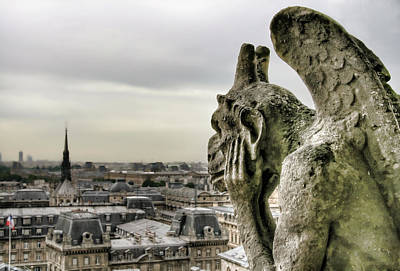 The Thinking Gargoyle Art Print by Brent Durken
