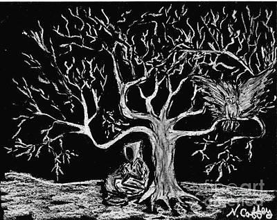 Pastel - The Thinking Tree by Neil Stuart Coffey