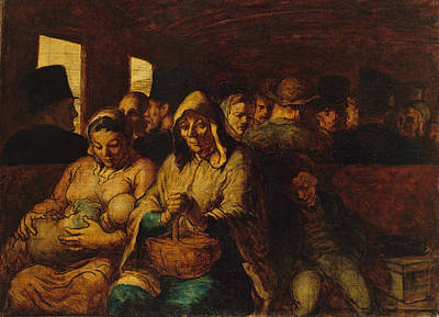 Painting - The Third-class Carriage by Honore Daumier