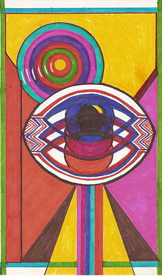 Drawing - The Third Eye by Jan Wendt