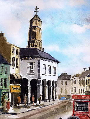 Painting - The Tholsel  Kilkenny by Val Byrne