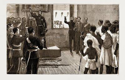 The Threatened Ashantee War Palaver With Native Ambassadors Art Print by Litz Collection