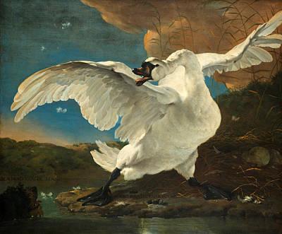 The Threatened Swan Art Print by Jan Asselijn