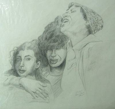 Drawing - The Three Agonies by Esther Newman-Cohen