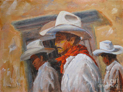 Mexico People Painting - The Three Amigos by Mohamed Hirji
