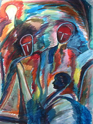 Painting - The Three by Anand Swaroop Manchiraju