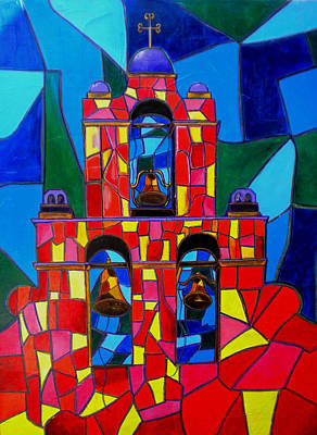 The Three Bells Of San Jose Mission Art Print by Patti Schermerhorn