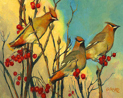 Waxwing Painting - The Three Bohemians by Francois Girard