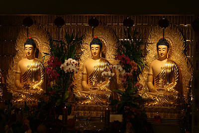 The Three Buddhas Art Print by Brian Davis