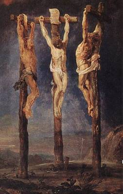 Peter Paul Rubens Digital Art - The Three Crosses by Peter Paul Rubens