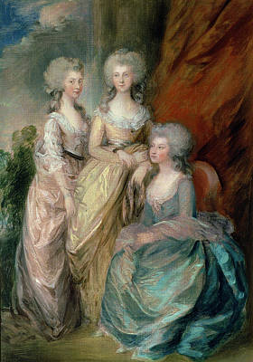 Royal Family Portraits Painting - The Three Eldest Daughters Of George by Thomas Gainsborough