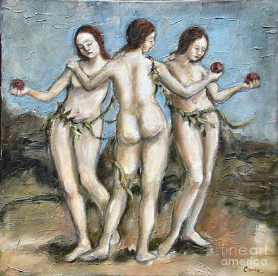 The Three Graces Art Print by Carrie Joy Byrnes