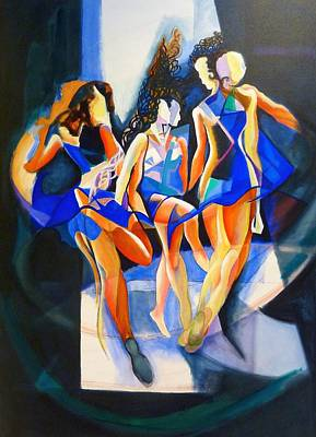 Art Print featuring the painting The Three Graces by Georg Douglas