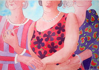 Painting - The Three Gracies by Julie  Hutchinson