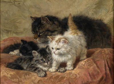 The Three Little Kittens Art Print by MotionAge Designs