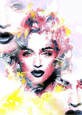 Famous People Mixed Media - The Three Madonna's by Brian Raggatt