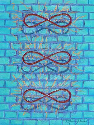 Grafitti Mixed Media - The Three Magicians by R Neville Johnston