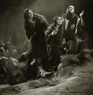 The Virgin Mary Photograph - The Three Marys On The Set Of The 'king Of Kings' by Edward Steichen
