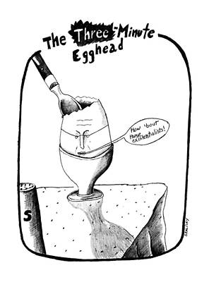 The Three Minute Egghead Art Print