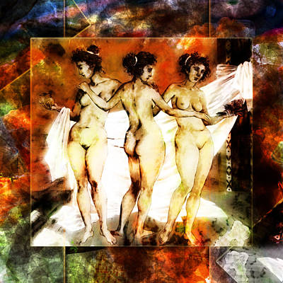 Photograph - The Three Muses by Selke Boris